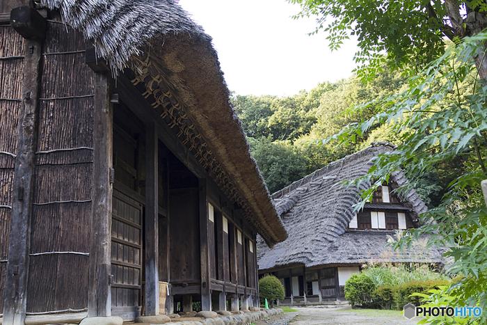 「向ヶ丘遊園駅」南口から徒歩13分ほどの場所にある「川崎市立日本民家園」は、主に東日本各地の貴重な古民家、水車小屋などの建物を25棟移築した屋外博物館です。自然豊かな場所にあり、園内に一歩足を踏み入れると、まるで江戸時代にタイムスリップした気分に。