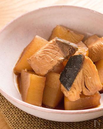 アラではなく切り身で作る、基本のブリ大根レシピ。短い時間でも味がしっかり染み込みます。