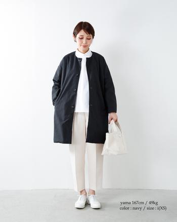 また、身長が明記されたモデルの着用イメージがあると着用イメージや、サイズ感の目安になります。