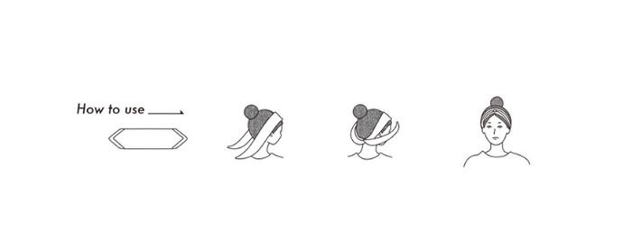 スカーフをいろいろな形で頭に巻く方法も、公式サイトのギャラリーページで紹介されています。
