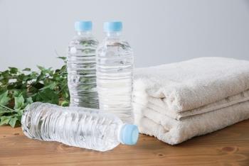 お風呂では、想像している以上に水分が失われていきます。バスタイム中に具合が悪くなったりしないよう、しっかりと水分を取っておきましょう。