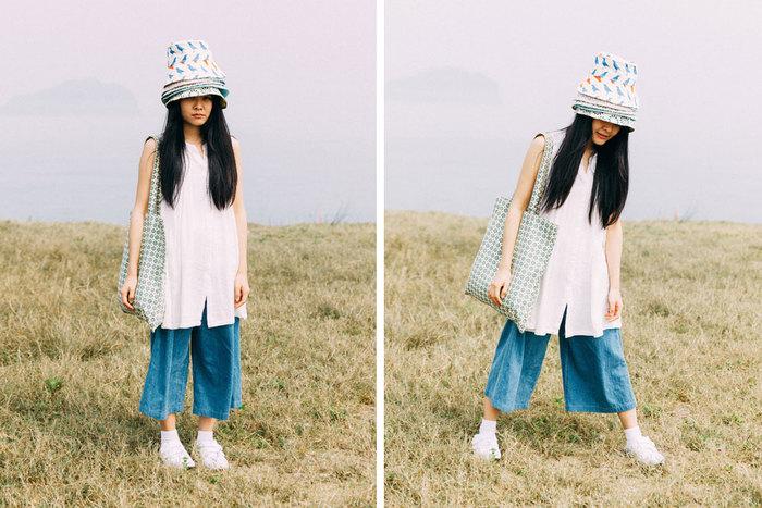 暖かい季節になったら、かわいいハッカチョウと一緒にピクニックはいかが?ツバが広めの帽子なので、日焼け対策もばっちりです。
