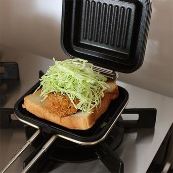 ガスの他にIHにも対応しているのがこの「ホットパン」。どんなキッチン、屋外でもホットサンドを楽しむことができます。