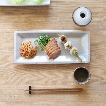和食だけでなく、洋食にも不思議とマッチする雰囲気。前菜やおつまみを数種類ちょこっと盛り付けるのにもぴったりです。