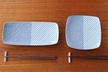 重ね縞シリーズは、グッドデザイン賞を受賞したこともあるデザイナー・森正洋氏が1984年に発表したデザイン。古さを感じさせない、新鮮でモダンな印象です。