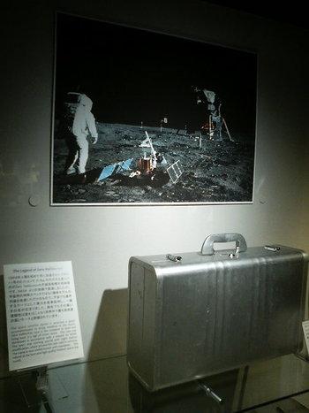 ほかにも、宇宙船アポロに乗って月の石を地球に持ち帰ったアタッシュケースや、有名スポーツ選手が愛用していたカバンなど、とても興味深い世界です。