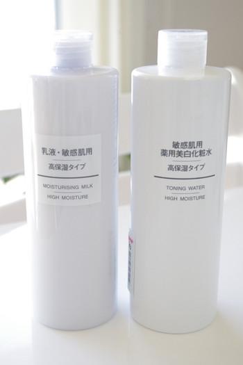 肌が乾燥して敏感になっているなら「ヒアルロン酸」や「セラミド」など、保湿成分が多く配合された肌にやさしい化粧水や乳液を使いましょう。  ローションマスクで美容成分を肌に集中的に浸透させるのもオススメです。