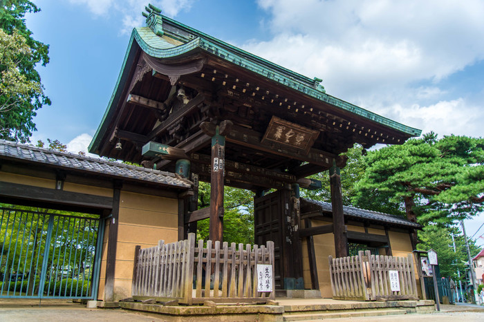 豪徳寺は、1480年世田谷城主・吉良政忠が建立した臨済宗のお寺で1584年から曹洞宗に。 彦根藩主・井伊直孝がこの付近を通った際に、「猫」が直孝を招き入れると雷雨に見舞われ、雨に濡れるのを猫が救ってくれたとして、寛永10(1633)年井伊家の菩提寺として伽藍を創建しました。 幕末の大老として日米修好通商条約の調印や、日本の開国近代化をすすめた井伊直弼のお墓もこちらにあります。