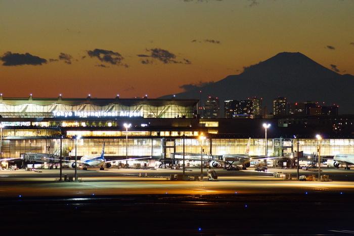 空港利用者数・飛行機の着陸数ともに日本一といわれる東京国際空港(以下、羽田空港)。外国人旅行者向けのレストランやお土産店が楽しい国際線ターミナル(以下、国際線)と、空港限定アイテムやグルメショップが豊富な国内線ターミナル(以下、国内線)にわかれていますよ。