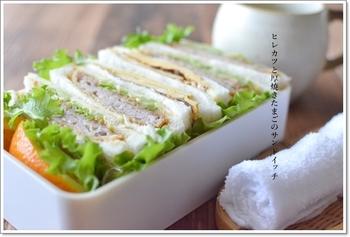 サンドイッチを入れたら「お弁当箱」というより「ランチボックス」でしょうか。時にはこういうランチも楽しいですね。