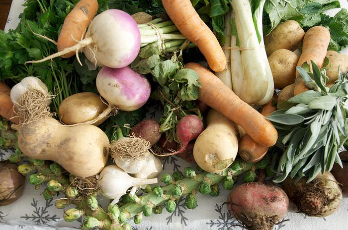 にんじん、じゃがいも、大根など土の中で育つ根菜野菜は、土の上に顔を出して育つ葉物野菜に比べて、気候の影響を受けにくいのが特徴。一年を通して、比較的、価格の変動が少ないのが嬉しいですね!先程、ご紹介した豆苗、もやしなどと組み合わせて活用したり、冬にはあたたかい根菜のスープなどにして食べても美味しく頂けます。