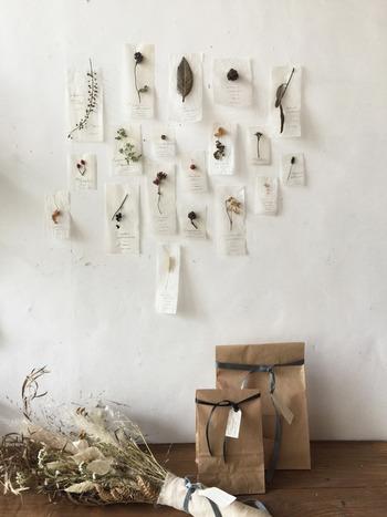 10枚セットと20枚セットの2種類があり、その中からどれを飾るか組み合わせを考えるのも楽しそう。紙袋入りなので、プレゼントにもおすすめです。