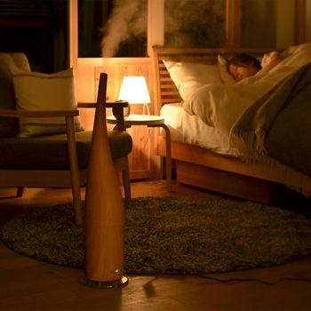 コンパクトサイズが多い超音波式の加湿器は、限られたスペース。例えばワンルームやベッドルームなどを加湿するのにお勧め! 超音波式の加湿器は、動作が静かなものが多いので、睡眠の邪魔にならないのがポイントです。快適な眠りをサポートしてくれる、嬉しい存在になりそう。