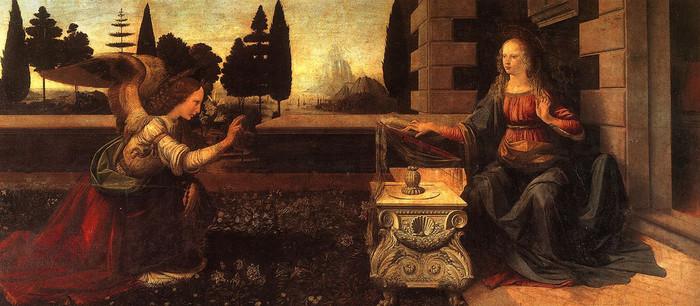 ウフィツィ美術館が所蔵する「受胎告知」は、ルネッサンス期を代表する芸術家で、数々の名画をこの世に送り出したレオナルド・ダ・ヴェインチによって制作されたものです。大天使ガブリエルから受胎を告知された聖マリアの表情は、まるで今にも声をあげそうなほど緻密で絵画の中から出てきそうなほど緻密に描かれています。