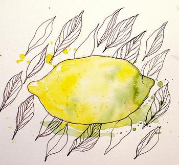 色数が少なく形もシンプルなフルーツは、水彩画初心者にもおすすめのモチーフです。