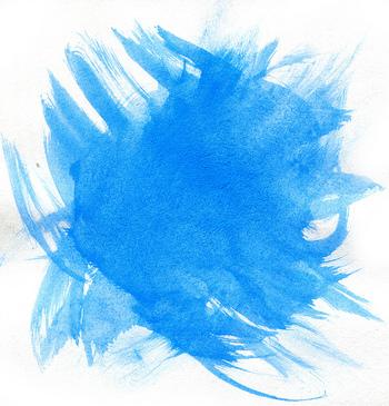 筆に水をたっぷり含ませて、ぼかしたりにじませたり、やさしい風合いを表現するのが水彩画の良さでもあります。