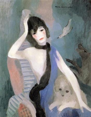 ココ・シャネルから肖像画の依頼を受けて出来上がった作品『マドモアゼル・シャネルの肖像』(1923年)。1920年代から30年代にかけて、ハイソサエティの女性から肖像画の依頼が殺到。成功者シャネルもその一人でした。  ところが…。 ↓↓