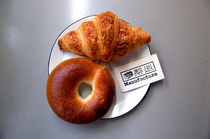 もっちりしたベーグルと、さっくり食感のクロワッサンは食べ応えもありサイズも大きめ。SUKE6 DINERでランチして、帰りにManufactureでパンを買って帰るなんて素敵生活が送れちゃいますよ!何度も足を運びたくなるお店です。