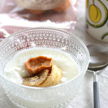 柔らかな食感を楽しむために、ヨーグルトにトッピングしても美味しい。香りが口の中に広がります。