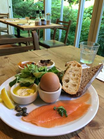 Le Pain Quotidienでは色々な種類のパンと、そのパンに合う料理をいただくことができます。また、フランス式のサンドイッチ・タルティーヌやキッシュなどの料理も楽しめます。パンや料理にはお店こだわりの食材が使われ、ヘルシーで栄養満点!