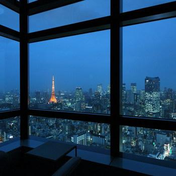 そして、このレストランの魅力の一つは、汐留シティーセンタービルの42階という好立地!都内を一望できる素晴らしい景色を眺めることができます。おすすめは夜。ライトアップされた東京タワーと都会のビル群の景色には、思わずうっとりしてしまいます。記念日やデートにもおすすめです。