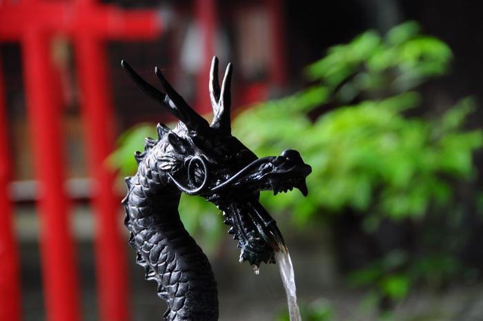 """「來宮神社」は、來宮大明神や木宮明神と称し、来福・縁起の神として、古くから信仰を集めてきた、当地に鎮座する歴史ある神社です。神奈川西部から伊豆半島にかけて偏在する""""樹木神""""や""""漂着神""""を祀る""""キノミヤ信仰""""を代表する神社としても知られています。【境内の「手水舎」】"""