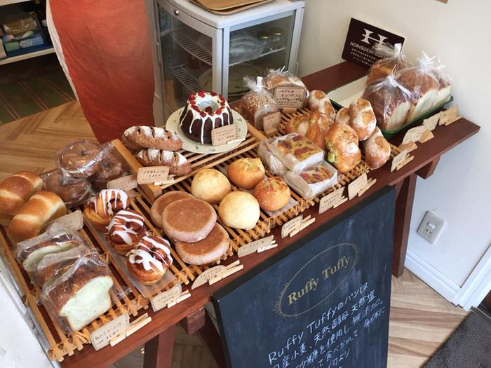 ずらりと並んだパンは、見た目も可愛らしいものが揃っています。パンの香りや生地の美味しさが想像出来そうですよね。