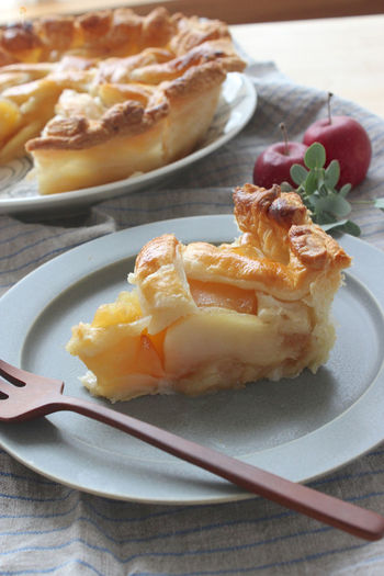 こんな本格アップルパイも、パイシートを使えば意外とカンタン♪家族や友だちに自慢できちゃいますよ。  【材料】 りんご 大4個 砂糖 100g 冷凍パイシート 1袋 溶き卵 適量