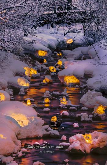 街のいたるところに、このようにキャンドルが置かれています。冬の寒さも忘れそうなほど暖かな光が足元を照らします。
