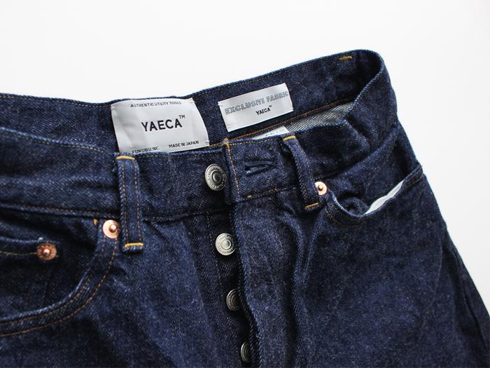 「必然的にシンプル」なデザインを形にしたブランドYAECAでは、定番のワイドテーパードデニム(9-13WW)を始めとするメイドインジャパンの高品質デニムを取り扱っています。