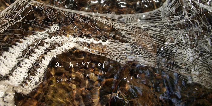 ふんわりと空中をただよう。クモの巣のようにも、クラゲのようにも見える谷口聡子さんのニットアート。繊細さと少しの毒々しさを兼ね合わせた谷口さんの世界に、あなたも触れてみませんか?