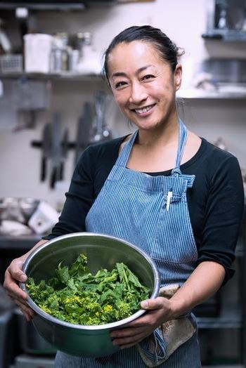 EAT GOOD(良い、を食べる)を提案してくれているのが、エグゼクティブシェフの松浦亜季さん。洗練された料理なのにどこか懐かしくも感じる、愛情深く素材の持ち味を生かした体が喜ぶ料理を提供してくれます。