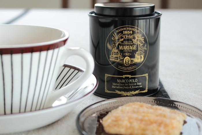 マリアージュはフランス生まれの紅茶のブランドです。1854年にパリで産声を上げたマリアージュ。 150年の歴史が育んできた紅茶の歴史は、その重厚な味わいにも感じられます。
