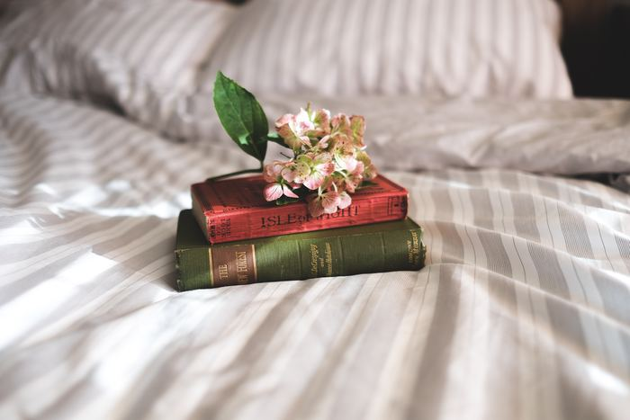スマホを見る代わりに読書はいかがですか?最近はデジタルの書籍もありますが、タブレットなどもスマホ同様に睡眠を妨げる可能性があるので紙の本にしましょう。夢中になりすぎると頭が冴えてしてしまうかもしれませんから、パラパラと何気なく読める本がおすすめですよ。