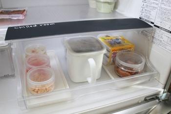 チルド室は設定温度が低い場所なので、詰めすぎにはご用心。2・3日で食べきる肉・魚や、冷凍していた物を解凍する時などに使用するのがおすすめです。