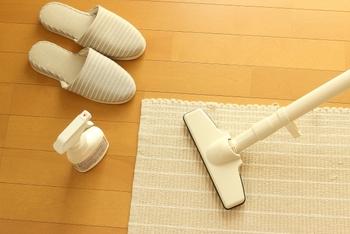 寝室の掃除のついでなどに、羽毛布団にも掃除機をかけましょう。縫い目に溜まったホコリや、布団に潜んでいるダニなどを取り除くことができます。