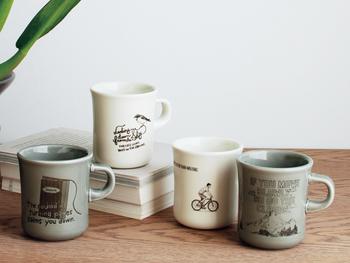 イラストは、本・鳥・自転車・雲の4種類。忙しい毎日に、一息つくのを忘れてしまわないように。大切な人へのギフトにもおすすめです。