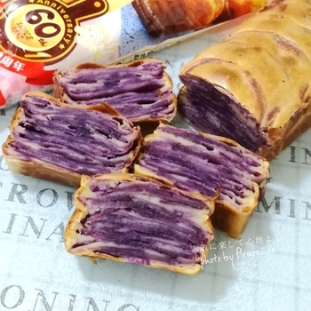 鮮やかな色が特徴の紫いもを主役にしたガトー・インビジブル。もちろん、アントシアニンもたっぷりで、体も喜ぶ素材です。おもてなしのオードブルの一品にもしたい、印象派のポテトケーキです。