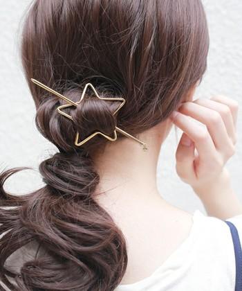 星型のマジェステでさわやかに♪見慣れたヘアスタイルにも、たちまち新鮮味が生まれます。