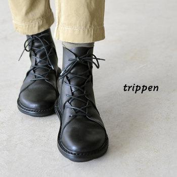 1992年にドイツ・ベルリンで誕生したシューズブランド【trippen(トリッペン)】。飽きのこないデザインは幅広い世代から愛されており、60代や70代のリピーターも少なくないという珍しいブランドです。