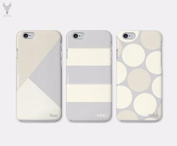 もっともっとシンプルなデザインがいい!という方は、ホワイトベースのスマホケースはいかがですか?定番パターンなら、長くお付き合いするのにもぴったり。