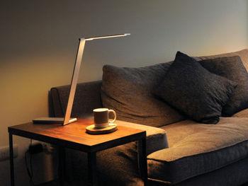 目を使う読書や趣味の時間には、部屋全体を適度に明るく保ち、手元を照らす明かりをプラスします。目が疲れにくいように、白熱灯のようなちらつきのないものを選ぶとよいでしょう。LEDライトは、手元で複数の影が出ないタイプを選びます。
