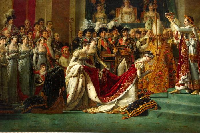 「ナポレオン1世の戴冠式」は、ジャック=ルイ・ダヴィッドによって描かれた傑作です。約縦6メートル、横10メートルの大作はナポレオン自身の戴冠を描いたものではなく妻ジョセフィーヌの戴冠を描いた作品です。この作品を眺めていると、戴冠式の厳かな雰囲気が伝わってくるかのような気分を覚えることでしょう。