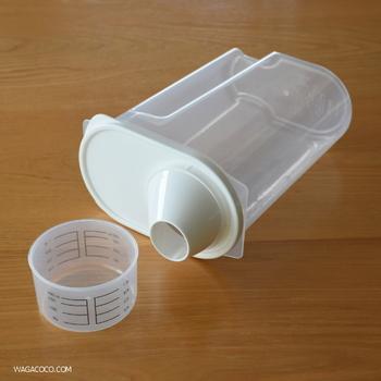 一人暮らしなら、お米もこのように保存してはいかがでしょうか?「冷蔵庫用米保存容器」は、コンパクトサイズにも関わらず、2㎏のお米が入る便利な米びつです。