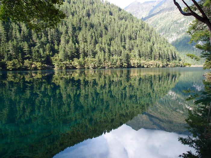 九寨溝は、手つかずの原生林に囲まれた渓谷に点在する大小100以上の湖沼群からなる自然保護区で、中国四川省に位置しています。