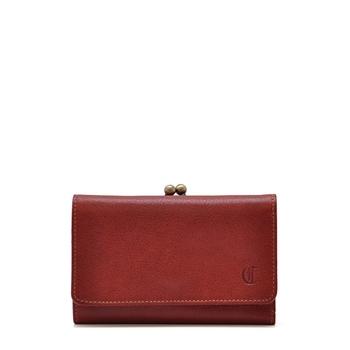 こちらは、2つ折りタイプのお財布。 小さめのサイズながら、カードケースが10ヶ所にあるので収納力は抜群。