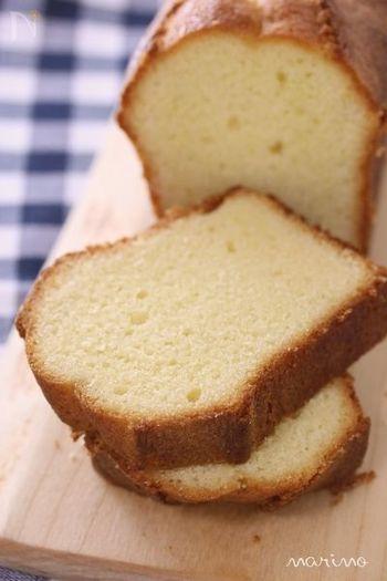 しっとり&ふんわりとしたブランデーケーキです。日が経つごとに美味しくなりますから、味の変化をじっくり楽しむのも◎