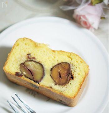 栗とブランデーの調和を感じる、風味豊かなパウンドケーキです。優しい味をほっこりいただきましょう。