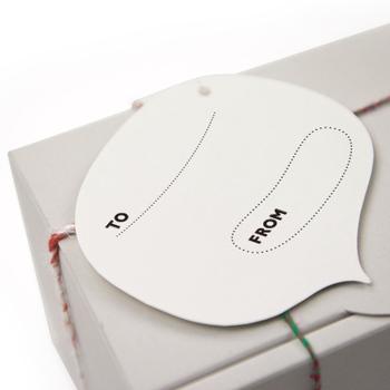 吹き出し型のカードの裏はこんな感じになっているので、ひとことメッセージも添えられますよ。