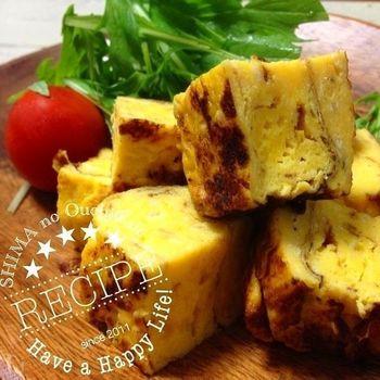 材料は卵、そして塩麹にバター!和と洋のしょっぱい食材の組み合わせで、お酒にも合う奥深いお味に。しょっぱい卵焼き好きにぜひおすすめしたいレシピです。